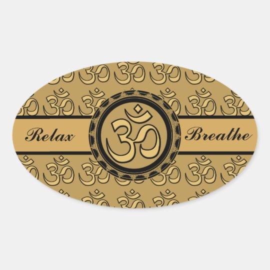 Om Meditation Relax & Breathe Sticker