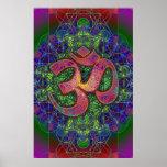 Om Metatron's Cube Mandala Poster