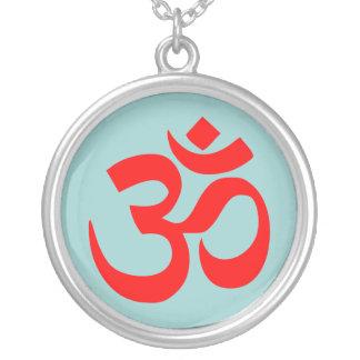 OM Mod Silver Necklace (Mod Blue)