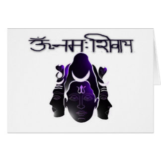 Om Nama Shivay Card