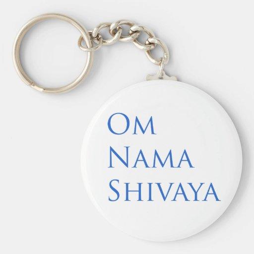 Om Nama Shivaya Basic Round Button Keychain