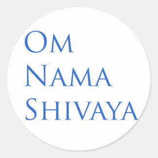 OM Nama Shivaya Pegatina Redonda