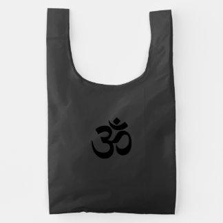 Om Namah Shivaya Aum Shanti Aum Om Symbol ॐ Peace Reusable Bag