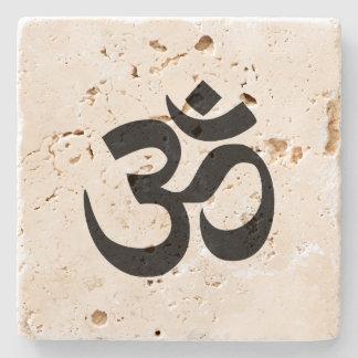 Om Namah Shivaya Aum Shanti Aum Om Symbol ॐ Peace Stone Coaster