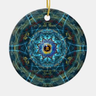 """Om Namah Shivaya""- The True Identity- Yourself Ceramic Ornament"