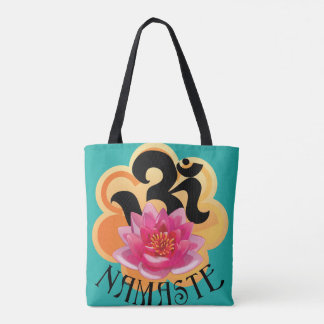 Om Namaste all over printed Tote