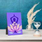 OM Namaste Spiritual Lotus Flower Yoga on Mauve Plaque