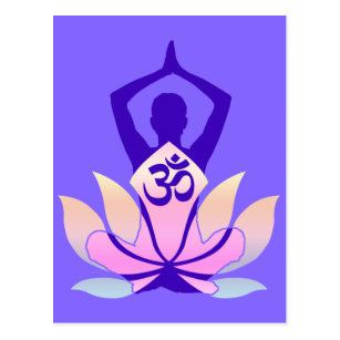 Namaste lotus flower yoga postcards zazzle om namaste spiritual lotus flower yoga on mauve postcard mightylinksfo