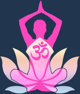 Lotus flower yoga pose t shirts shirt designs zazzle om namaste spiritual lotus flower yoga on purple long sleeve t shirt mightylinksfo