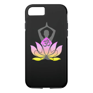 OM Namaste Spiritual Lotus Flower Yoga Pose iPhone 7 Case