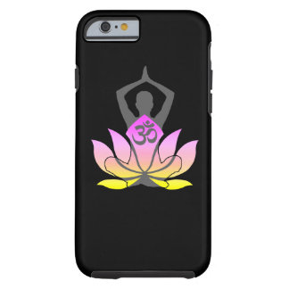 OM Namaste Spiritual Lotus Flower Yoga Pose Tough iPhone 6 Case