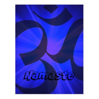 OM Namaste Tarjeta Postal