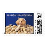 Om Nom Hampster Postage Stamp