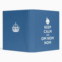 Avery Signature 1' Binder with Keep Calm and Om Nom Nom design