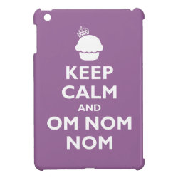 Case Savvy iPad Mini Glossy Finish Case with Keep Calm and Om Nom Nom design