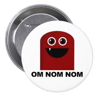 Om Nom Nom Cutie Button