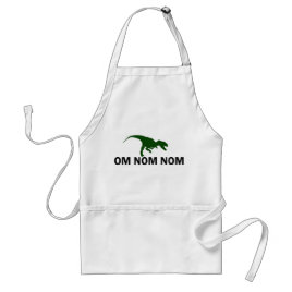 Om Nom Nom Dinosaur Rawr is Hungry Adult Apron