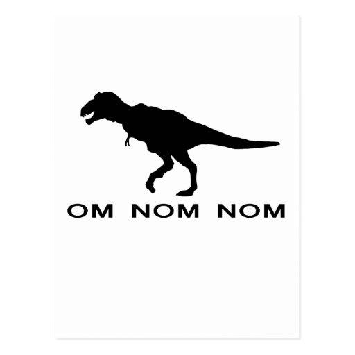 Om Nom Nom Dinosaur Rawr.png Post Cards