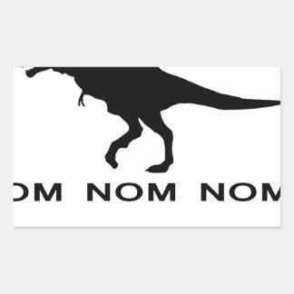 Om Nom Nom Dinosaur Rawr.png Rectangular Sticker