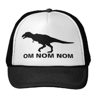 Om Nom Nom Dinosaur Rawr Trucker Trucker Hats