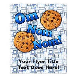 OM Nom Nom, galletas del amor de Meme Tarjetas Publicitarias
