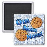 OM Nom Nom, galletas del amor de Meme Imán Cuadrado