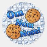 OM Nom Nom, galletas del amor de Meme Etiqueta Redonda