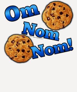 OM Nom Nom, galletas del amor de Meme Camisetas