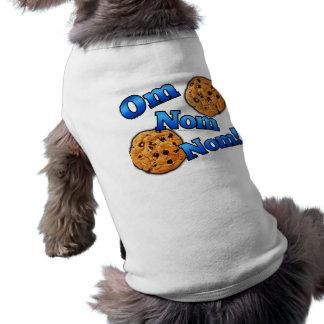 OM Nom Nom, galletas del amor de Meme Playera Sin Mangas Para Perro