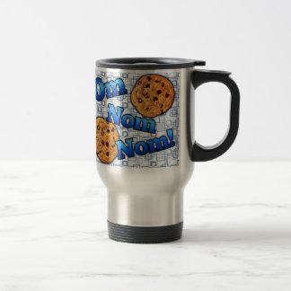 OM Nom Nom galletas del amor de Meme Tazas De Café