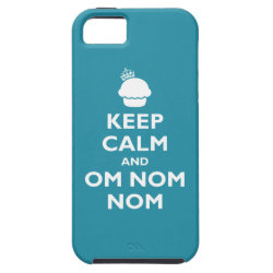 Case-Mate Vibe iPhone 5 Case with Keep Calm and Om Nom Nom design