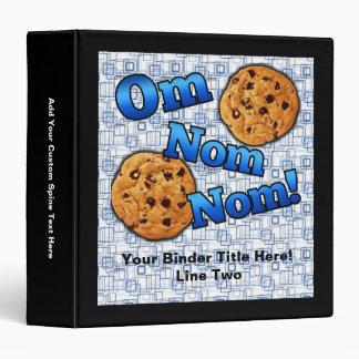 Om Nom Nom, Meme Love Cookies 3 Ring Binder