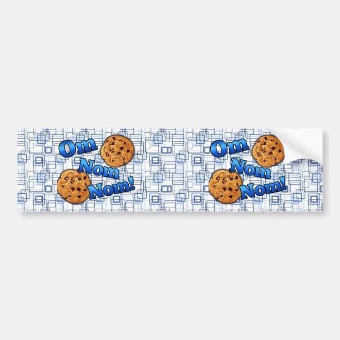 Om Nom Nom, Meme Love Cookies Bumper Sticker