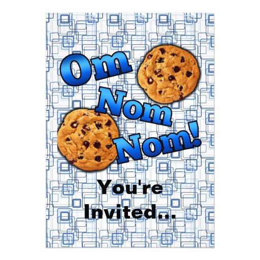 Om Nom Nom, Meme Love Cookies Card