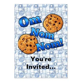 Om Nom Nom, Meme Love Cookies 5x7 Paper Invitation Card