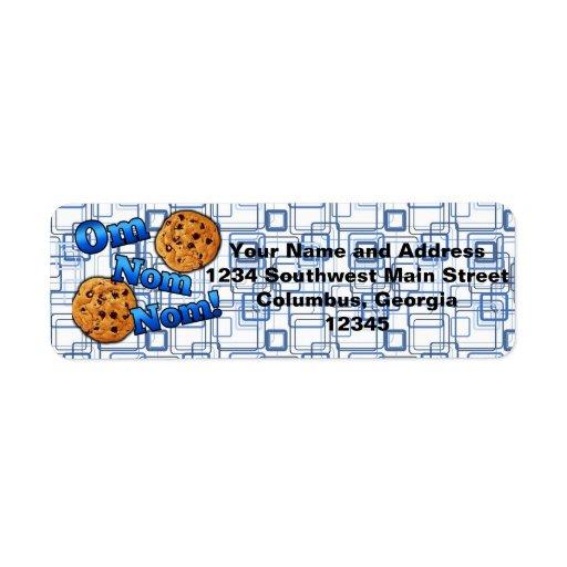 Om Nom Nom, Meme Love Cookies Custom Return Address Label
