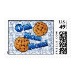 Om Nom Nom, Meme Love Cookies Postage Stamps