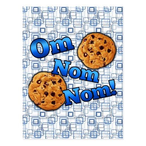 Om Nom Nom, Meme Love Cookies Post Cards