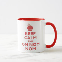 Combo Mug with Keep Calm and Om Nom Nom design