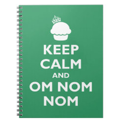 Photo Notebook (6.5' x 8.75', 80 Pages B&W) with Keep Calm and Om Nom Nom design