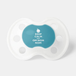 BooginHead® Custom Pacifier (6+ Months) with Keep Calm and Om Nom Nom design