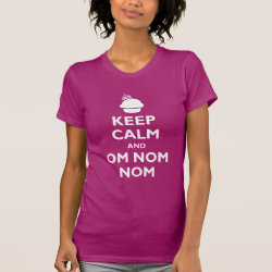 Women's American Apparel Fine Jersey Short Sleeve T-Shirt with Keep Calm and Om Nom Nom design