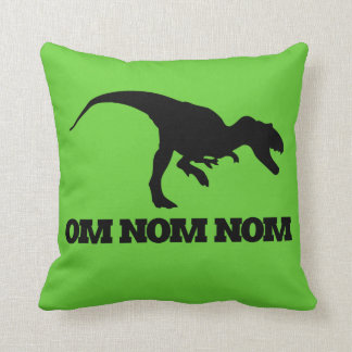 Om Nom Nom Throw Pillow
