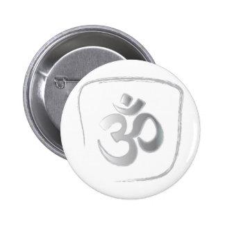 OM o meditación del mantra de Aum Pin Redondo De 2 Pulgadas