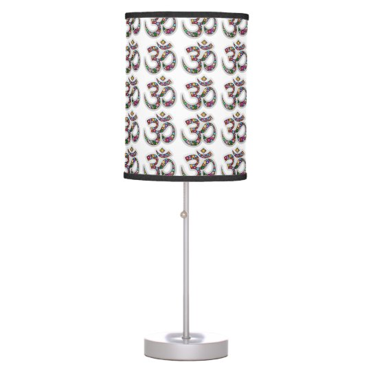 Om ohm aum namaste yoga symbol table lamp table lamp zazzle for Table lamp election symbol
