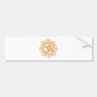 OM - Ohmio - símbolo de Aum Etiqueta De Parachoque
