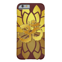 OM Omkara and Gold Colored Lotus Flower iPhone 6 Case