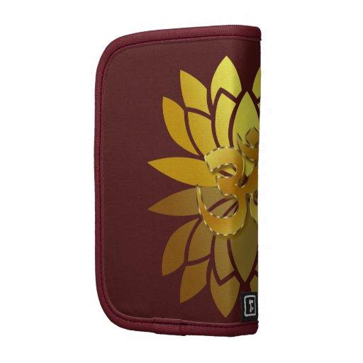 OM Omkara y flor de Lotus coloreada oro Planificadores