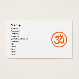Om or Aum Business Cards