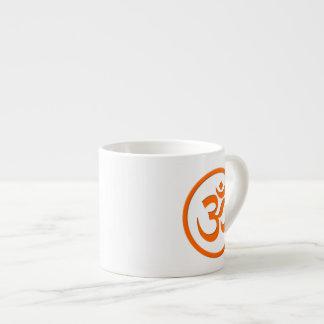 Om or Aum Espresso Mug 6 Oz Ceramic Espresso Cup
